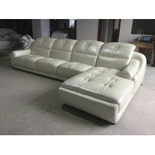 Nova chegada L forma sofá de couro, sofá da sala de estar moderna (A849)