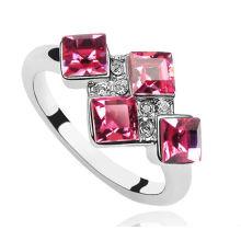Mais novo design de jóias de diamante rosa platina anéis de casamento
