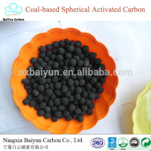 конкурентоспособная цена активированного угля удаления серы на уголь на основе сферического Навального активированного покупателей углерода