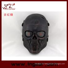 Taktische Airsoft Wire Mesh Terminator Skull Party Maske