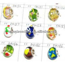 Мода Европейского стиля стерлингового серебра Core Crystal стеклянные бусы Оптовая LS-141