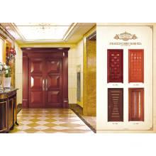 Puerta de madera maciza deslizante de interior moderno