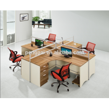 European new design workstation for four seater
