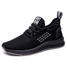2021 Mesh Running Korean Version of Pure Color Breathable Non-Slip Round Head Hollow Shoes Men Sport Casual Sneakers Fashion