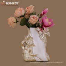 высокое качество современный век ваза с polyresin материал для свадебного стола центральные