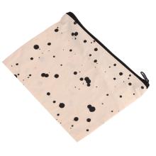fashion cotton zipper fabric drawstring bag