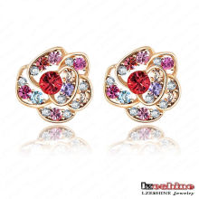 Cheap Wholesale Flower Shaped Crystal Stud Earring for Women (ER0004-C)