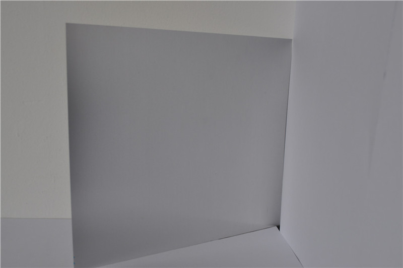 Brushed aluminum laminate sheet for sign plate