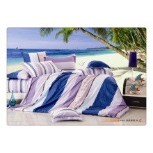 100 хлопок 40s 128 * 68 роскошный мягкий высококачественный пигмент печать органический хлопок постельное белье
