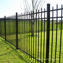 Black Residential and Commercial Ornamental Wrought Iron Metal Garden Fencing