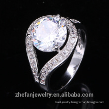 2018 trend jewelry ladies rings big round shaped cz costume ring