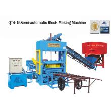 Cemento semi bloque que hace la máquina que hace la máquina (QT4-25)