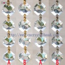 2014 de gros cristal octogone chaînette