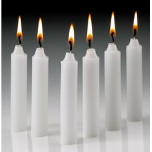 wholesale religious candles bougie blanche