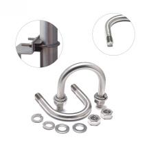 Stainless Steel Carbon Steel with Zinc Plated Square U Bolt Pipe Wire Rope Clip  U Clamp
