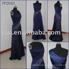 2010 fabricação de vestido de noiva de seda com pernas sexy PP2043