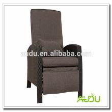Audu cadeira de pátio / tamanho grande recarregar cadeira de pátio confortável com descanso para os pés