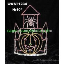Couronne de tiare de l'araignée de citrouille du château