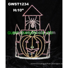 castle pumpkin spider tiara crown