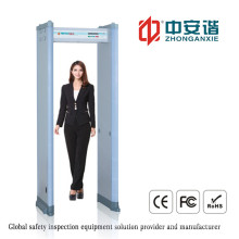 Airport Security High Precision Detection Door Frame Metal Detector with Alarms Indicator