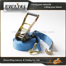 100% polyester ratchet cargo tie down straps