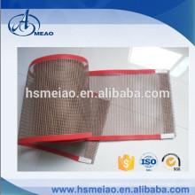 Courroie de convoyage en mousse en fibre de verre revêtue de téflon résistant à la chaleur de qualité alimentaire