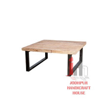 Wood Iron Coffee Table