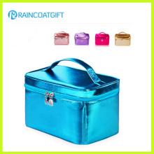 Brilhante PVC / PU Caixa Cosmética Rbc-051