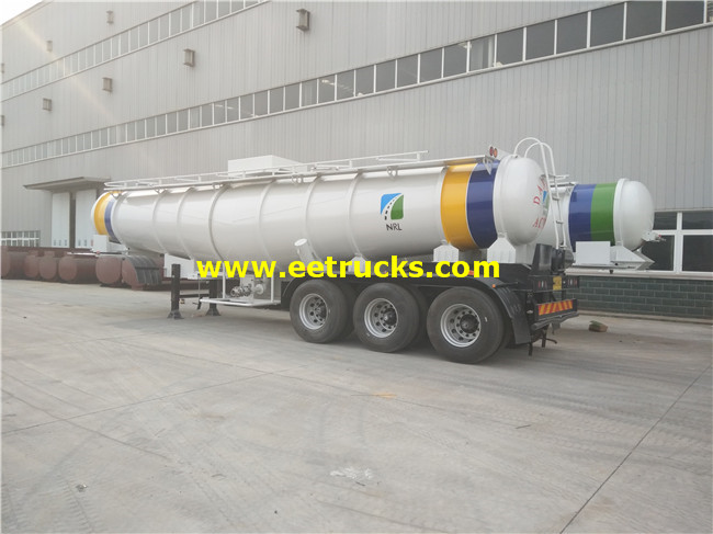 H2so4 Delivery Tank Semi Trailers
