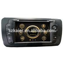 Производство двойной зоны вздрагивания автомобиль Центральный мультимедиа для VW место 2013 с GPS/Bluetooth/Рейдио/swc/фактически 6 КД/3Г /квадроциклов/ставку