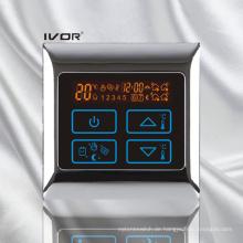 Programmierbare Fußbodenheizung Thermostat Berührungsschalter Metallrahmen (SK-HV2000-L)