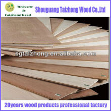 Hochwertige Pappel Furnierte Sperrholzplatte