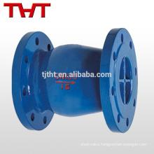 Energy conservation noise elimination silent cone check valve