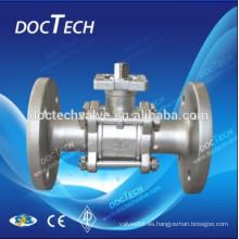 Válvula de bola de acero fundido con bridas extremos DIN PN40/PN16; JIS 10K Y 20 K.