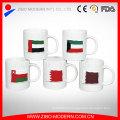Custom Color Glazed Banner Ceramic Embossed Cup, 320ml Coupe en céramique pour boissons