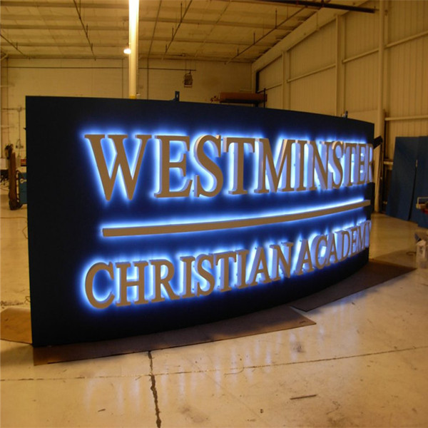 Outdoor Led Halo Lit Business Signage