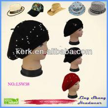 2015 nuevas sombreros y gorras militares baratos de la boina de las señoras del vestido de la manera del diseño