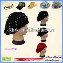 2015 new design fashion dress ladies military cheap beret hat &caps