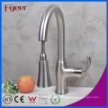 Fyeer никель матовый вытяните кухонный Кран смесителя (QH14107KS)