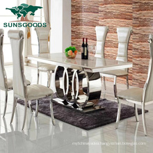 2020 China Hot Sale Marble Top Simple Dining Furniture Tables Sets