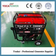 Gerador portátil da gasolina do gerador elétrico do começo simples do cilindro 4kw