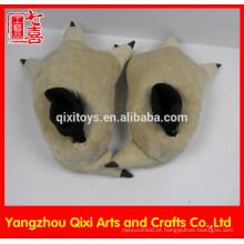 Chinelos de pata de urso de pelúcia Chinelos de pata de peru chinelos de pata de pelúcia
