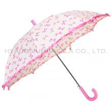 Girl Cute Frill Auto Open Kids Umbrella
