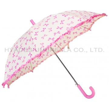 Girl Cute Frill Auto Open Kids Umbrella