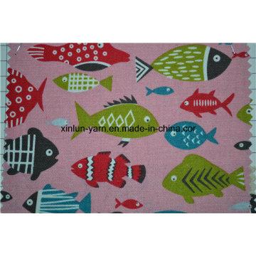 Tissu imprimé de modèle de conception de fleur pour la couverture de sofa / chaise / coussin