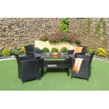 Poly Rattan Coffee and Dining Set para o jardim ao ar livre Patio Wicker Furniture from Vietnam 2017