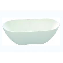 Акриловая отдельностоящая ванна Simple White с центральным сливом