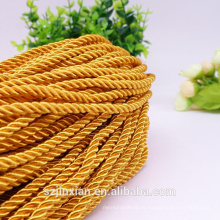 3 hilos trenzados de poliéster trenzado cuerda