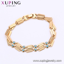 75188 Xuping personalized pattern magnetic evil eye charm chains bracelet providing free sample