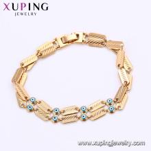 75188 Xuping personalizado padrão magnético mal olho charme chains pulseira fornecendo amostra grátis